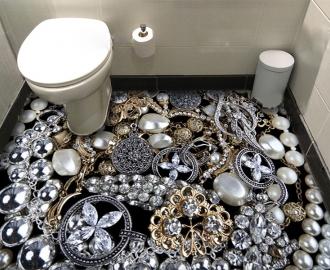 """Линолеум с рисунком """"Бриллианты, ювелирные украшения"""" купить"""
