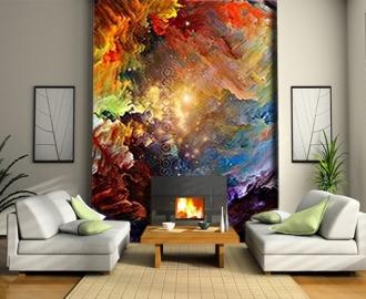 "Фотообои на стену купить ""Абстракция, яркие краски"" визуализация №2"