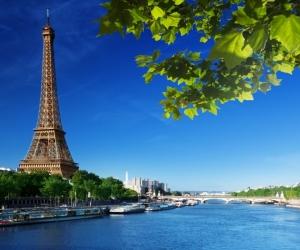 """Плитка с изображением """"Берега Парижа"""""""