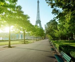 """Плитка с изображением """"Парки Парижа"""""""