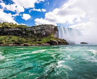 """Фотообои купить самоклеющиеся """"Океан. Горы, водопад"""""""