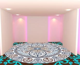 """Обои для пола в комнату """"Декор, орнамент, мандала"""" купить"""