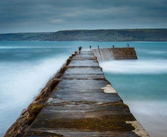 """Фотообои на стену купить """"Дорожка, океан"""""""