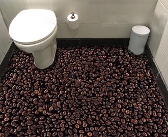 """Линолеум с рисунком """"Зерна кофе"""" купить визуализация №3"""