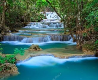 """Линолеум с рисунком """"Каскадный водопад"""" купить"""