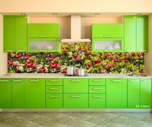 "Фартук для кухни ""Тюльпаны и Нарциссы"""