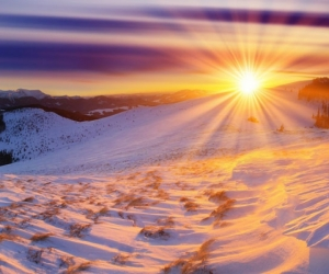 "Плитка с изображением ""Красота восходящего солнца"""