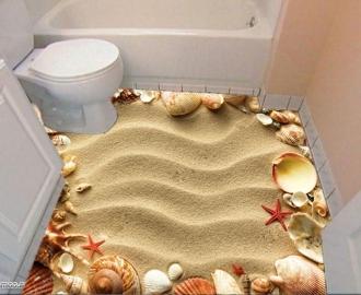 """Линолеум """"Золотой песок, ракушки"""". Напольное покрытие купить."""