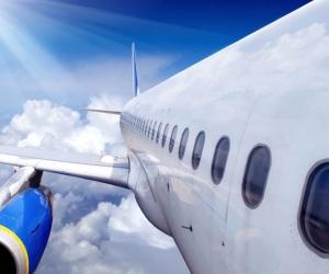 """Линолеум с рисунком """"Самолет в небе """" купить"""