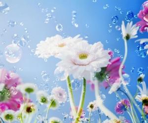 """Плитка с изображением """"Небесные цветы"""""""