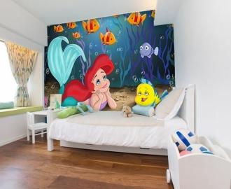 """Фотообои для детской комнаты """"Русалочка"""" . Фото, цена."""