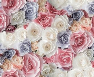 """Линолеум с рисунком """"Розы, цветы"""" Напольное покрытие купить."""
