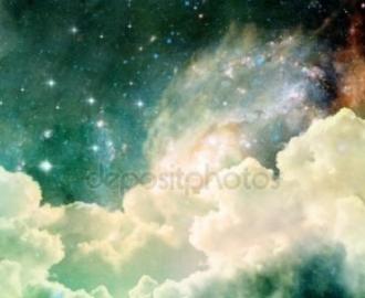 """Фотообои на стену купить """"Небо, облака, звезды"""""""