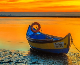 """Фотообои купить """"Лодка, Португалия"""""""