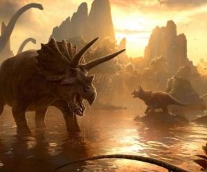 """Плитка с изображением """"Времена динозавров"""""""