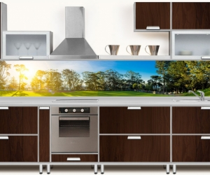 "Фартук для кухни ""Панорама Зеленого берега"""