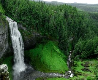 """Керамическая плитка с изображением """"Зеленые горы. Водопад"""""""