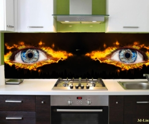 "Фартук для кухни ""Глаза"""
