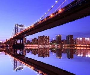 "Плитка с изображением ""Мост в ночи"""