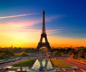 "Плитка с изображением ""Париж в красках"""