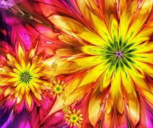 """3D обои для пола Фото Цена """"Абстракция цветы"""""""