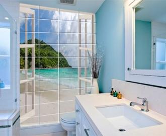 """Керамическая плитка с изображением """"Окно с видом на океан"""""""
