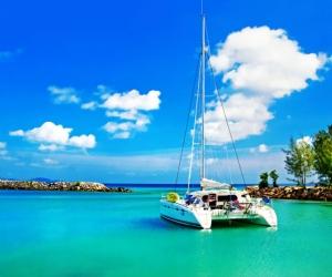 """Плитка с фотопечатью """"Яхта в раю"""", купить"""