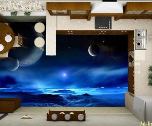 "3D обои пол ""Ночное небо"" Цена, фото"