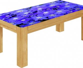 """Столешница с рисунком """"Синие цветы"""""""