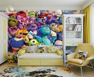 """Фотообои для детской комнаты """"Стена с монстрами"""". Фото, цена."""