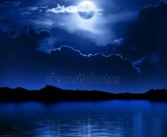 """Фотообои на стену купить """"Полная луна, ночь, вода"""" вариант №2"""