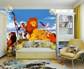 """Фотообои для детской комнаты """"Король Лев и друзья"""" . Фото, цена."""