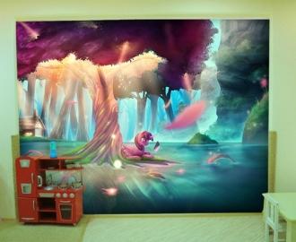 """Фотообои для детской комнаты """"Пони"""". Фото, цена."""