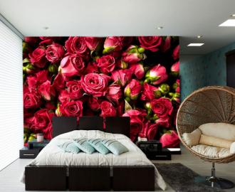 """Фотообои на стену """"Розы алые"""""""