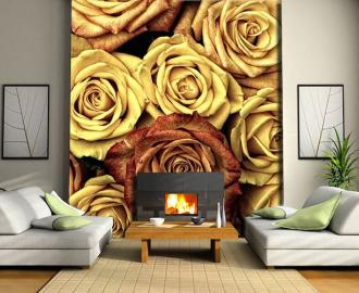 """Фотообои на стену """"Розы, крупным планом"""""""
