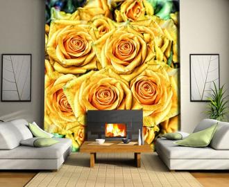 "Фотообои на стену ""Розочки желтые"""