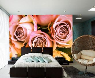 """Фотообои на стену """"Розовые розы нежность"""""""