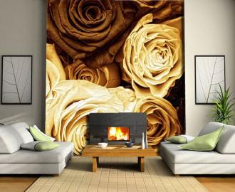 """Фотообои на стену """"Розы беж"""""""