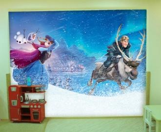 """Фотообои для детской комнаты """"Анна и Кристофф"""". Фото, цена."""