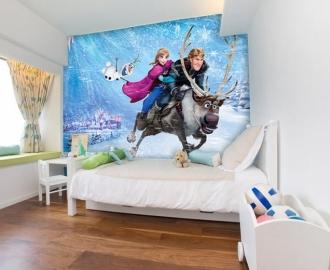 """Фотообои для детской комнаты """"Анна, Кристофф и Свен"""" . Фото, цена."""