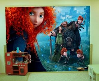 """Фотообои для детской комнаты """"Мерида и мальчики"""". Фото, цена."""