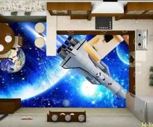 """Линолеум с рисунком """"Ракета"""" купить"""