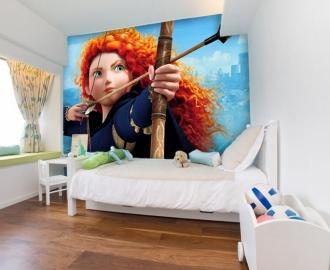 """Фотообои для детской комнаты """"Мерида, Лук и стрелы"""" . Фото, цена."""