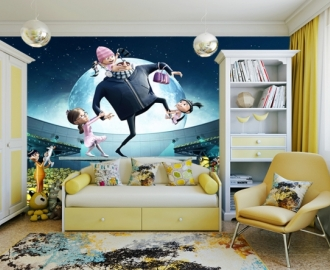 """Фотообои для детской комнаты """"Гадкий Я и миньоны"""" . Фото, цена."""