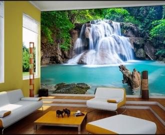 """Фотообои на стену купить """"Водопад, лазурная вода"""" визуализация №2"""