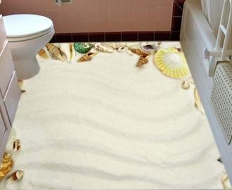 """Линолеум """"Белый песок, Морские ракушки"""". Напольное покрытие купить."""