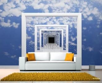 """Фотообои на стену купить """"Небо, проход"""" вариант №2 визуализация №1"""