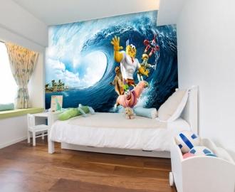 """Фотообои для детской комнаты """"Губка Боб"""". Фото, цена."""