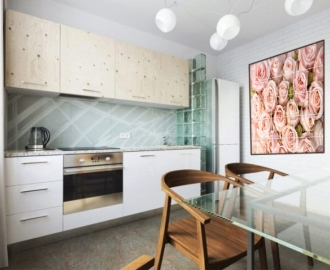 Плитка с рисунком на стену для кухни НЕЖНЫЕ РОЗЫ