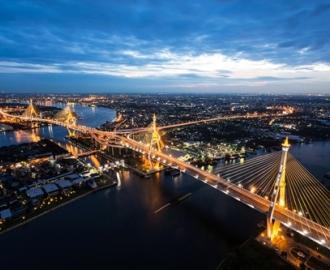 """Фотообои на стену купить """"Ночной город"""" вариант №49"""
